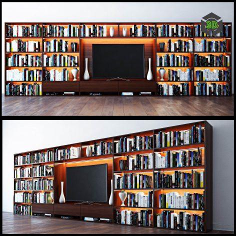 Bookshelves(3ddanlod.ir) 837