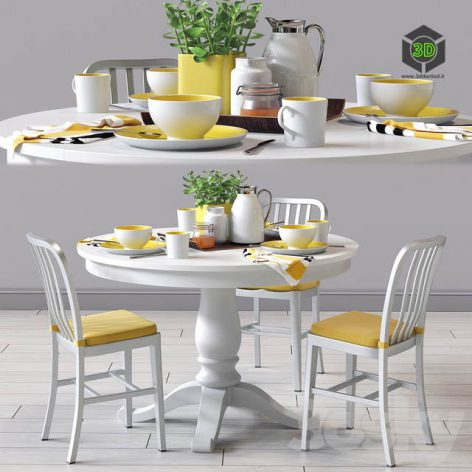 C&B Delta Dinning Chair and Avalon Table(3ddanlod.ir) 241