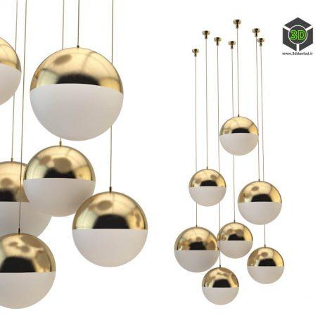 CEDAR MOSS GLOBE 6 SET GOLD(3ddanlod.ir) 016