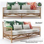 Caroline 3 Seat Sofa by Sika Design(3ddanlod.ir) 487