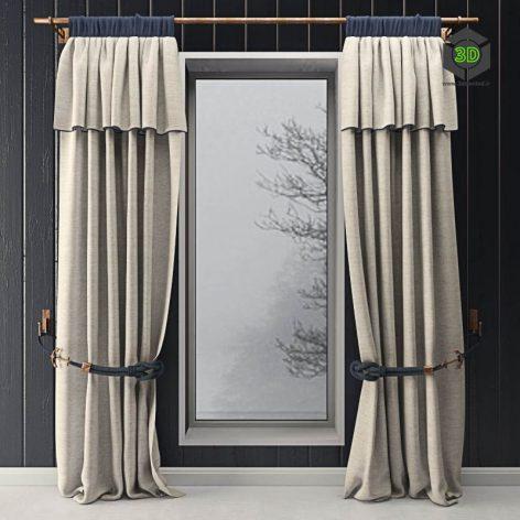 Curtains With Marine Decor(3ddanlod.ir) 951