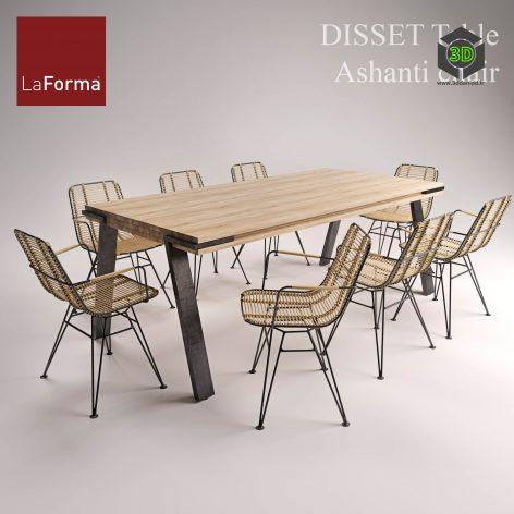 DISSET Table & Amp Ashanti Chair(3ddanlod.ir) 793