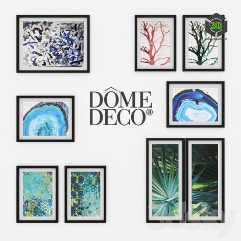 Dome Deco Set of Paintings(3ddanlod.ir) 208