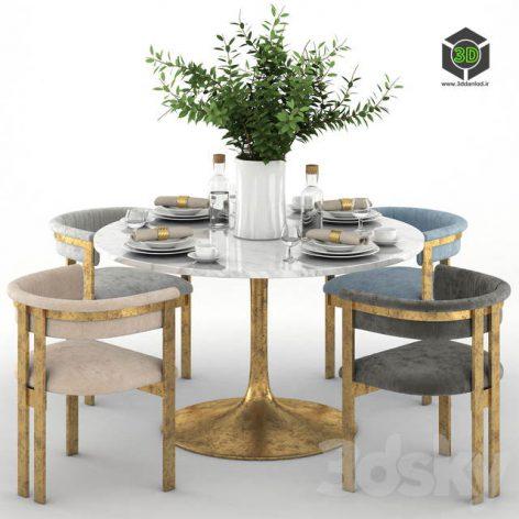 Elliott Dining Chairs With Iris Dining Table(3ddanlod.ir) 574