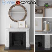 Fireplace Decorative Set(3ddanlod.ir) 832