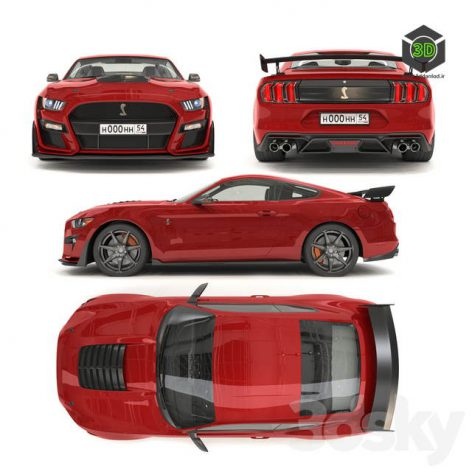 Ford Mustang Shelby GT500 2020 With HQ Interior(3ddanlod.ir) 742