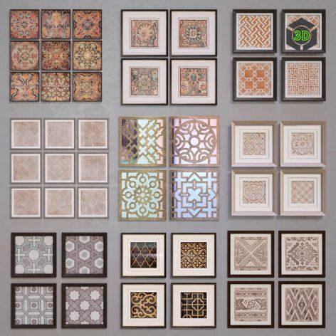 Framed Ornamentals(3ddanlod.ir) 869
