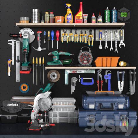 Garage Tools Set 2(3ddanlod.ir) 705