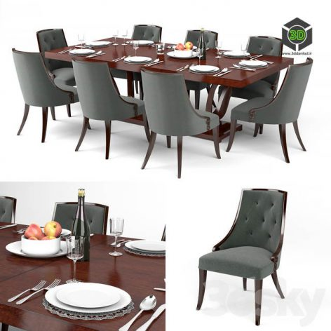 Guy Fontaine Dining Table Chairs(3ddanlod.ir) 1205