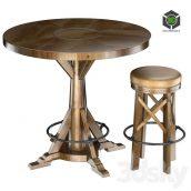 HUNTINGDON COLLECTION Table and Bar Stool(3ddanlod.ir) 1075