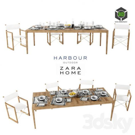 Harbor Outdoor Collect and Zara Home Table Setting(3ddanlod.ir) 1284