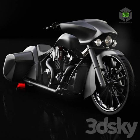Honda Slammer Bagger Motorcycle(3ddanlod.ir) 1066