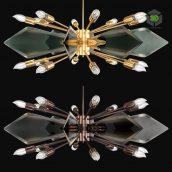 Italian Glass Chandelier by Veca (1) (3ddanlod.ir)
