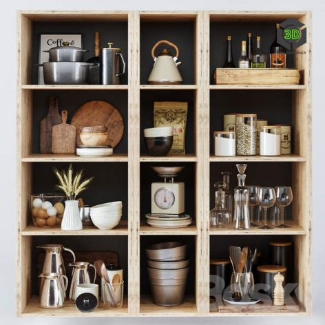 Kitchen Decorative Set 050(3ddanlod.ir) 1366