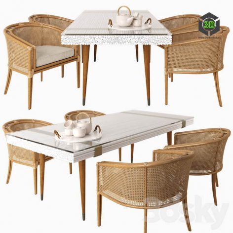 Mcguire Dining Set(3ddanlod.ir) 1268