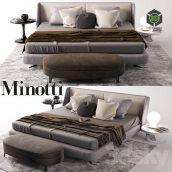 Minotti Bed(3ddanlod.ir) 1163