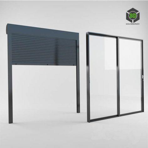 Modern Sliding window (3ddanlod.ir)