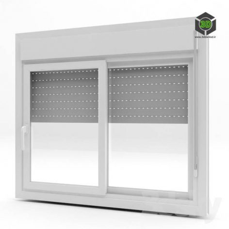 PVC Windows with shutter (3ddanlod.ir)