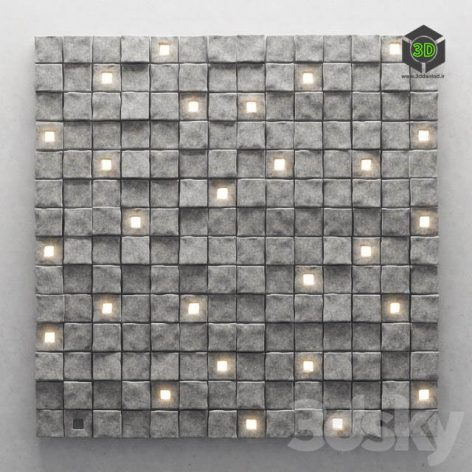 Panel Stone Cube(3ddanlod.ir) 1820