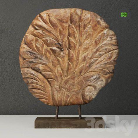 Piece of Wood With a Base ZARA HOME(3ddanlod.ir) 1556