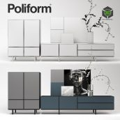 Poliform Pandora Due Storage Unit and Sideboard Set(3ddanlod.ir) 2319