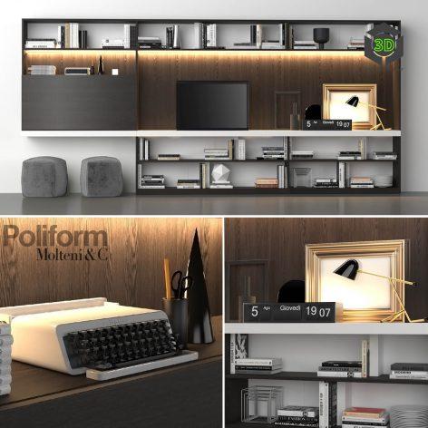 Poliform Storage Wall MOLTENI C(3ddanlod.ir) 2283
