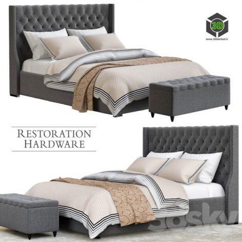 Restoration Hardware Gray Bedroom(3ddanlod.ir) 1919
