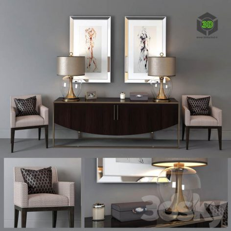 Set of Furniture The Sofa & Chair Company(3ddanlod.ir) 2061