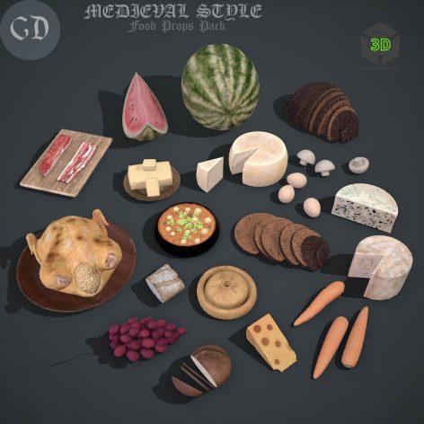 medieval-food-pack-3d-model-obj-mtl-fbx-ztl-zbp