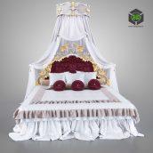11207 Double Bed - ModeneseGastone (3ddanlod.ir)