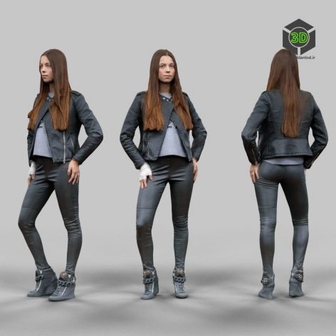 3D Model Download Leather outfit Girl_643 (3ddanlod.ir)