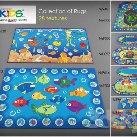Collection rugs Carpets for Kids (3ddanlod.ir)