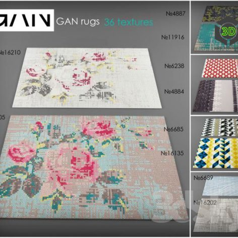 Collection rugs GAN (3ddanlod.ir)
