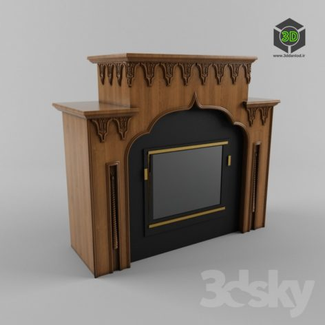 Fireplace in the Arab style 007 (3ddanlod.ir)