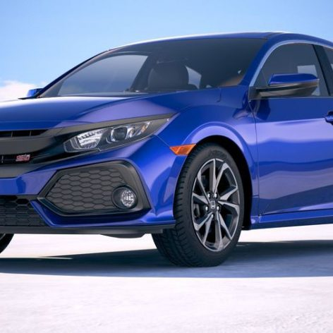 Free3D - Honda Civic Si Sedan 2017 - 5455 019 side view (3ddanlod.ir)