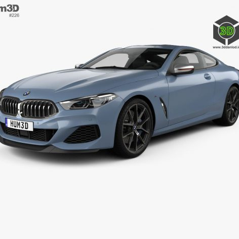 Hum3D - BMW 8 Series (G15) M850i coupe 2019 046 (3ddanlod.ir)
