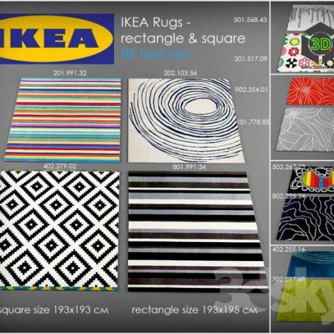 IKEA Rugs collection (3ddanlod.ir)