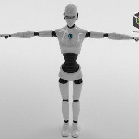 Robot Woman Character 006(3ddanlod.ir)