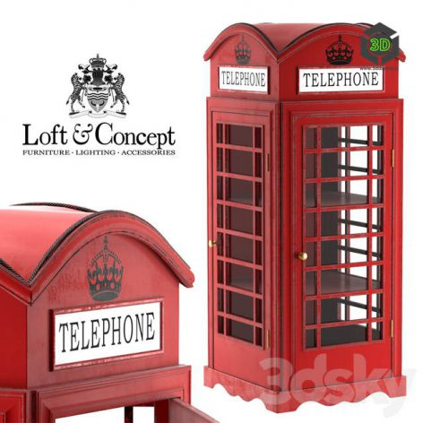 SHOWCASE LONDON TELEPHONE BOX(3ddanlod.ir) 1627