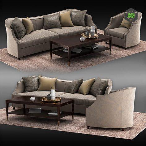 Sofa UPH SOFFUL 49A(3ddanlod.ir) 2211