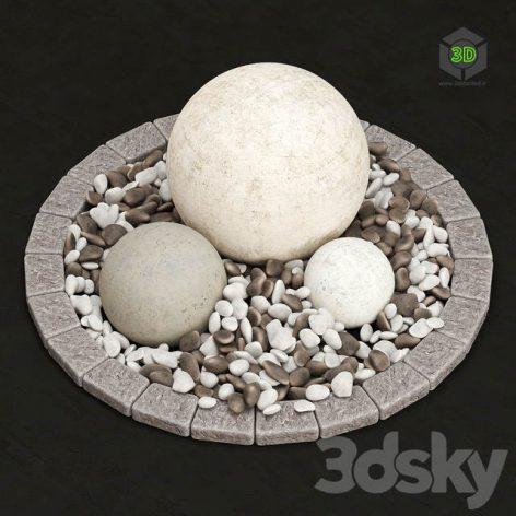 Stone Flower Bed(3ddanlod.ir) 1702