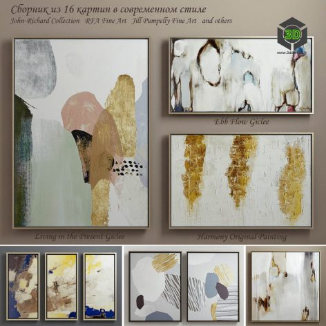 The Collection of Contemporary Paintings(3ddanlod.ir) 2387