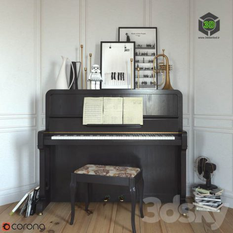 The Piano and Flugelhorn(3ddanlod.ir) 1666