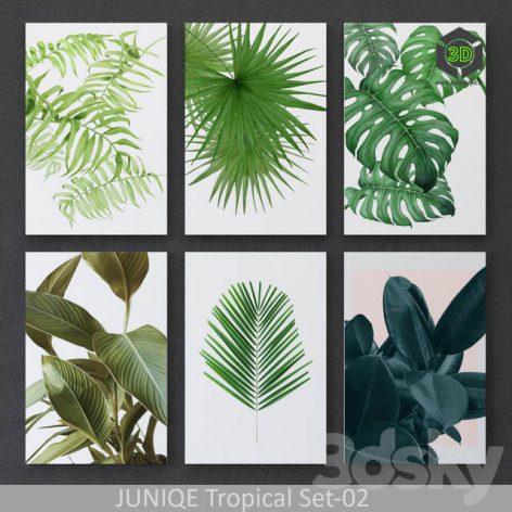 Tropical Set 02 Framed(3ddanlod.ir) 1801