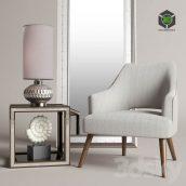 Uttermost Dree Accent Chair(3ddanlod.ir) 2032