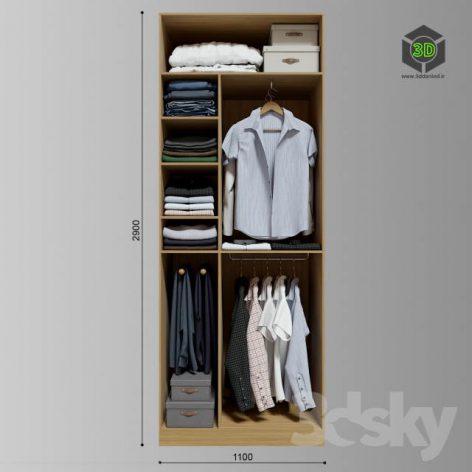 Wardrobe Clothes(3ddanlod.ir) 2478