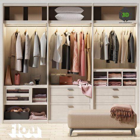 Wardrobe Flou(3ddanlod.ir) 2270