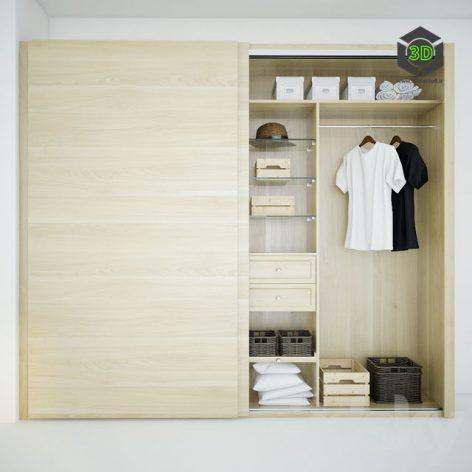 Wardrobe Mebelux Calmo(3ddanlod.ir) 2450