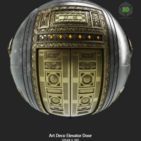 art_deco_elevator_door (3ddanlod.ir)