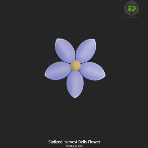 stylized_harvest_bells_flower (3ddanlod.ir)